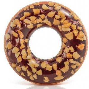 Opblaasbare chocolade donut