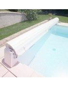 Opbouw Lamellenafdekking bij Zwemco.be - Online store for pool & more